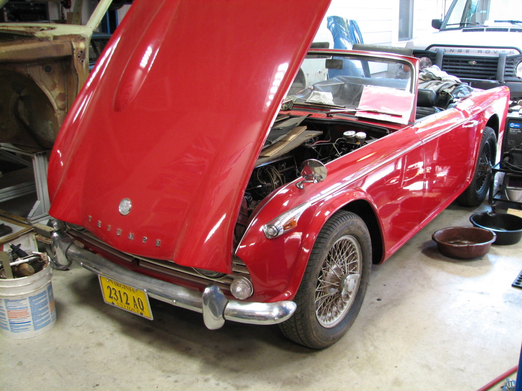 Tr4a With Replacement Frame Back On The Ground Uk